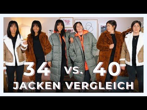 GRÖßE 34 VS. 40 JACKEN & MÄNTEL VERGLEICH   Was passt mit jeder Größe?