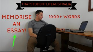 How To Memorise An Essay ! 1000+ words