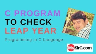 Download Youtube: C Program to check leap year