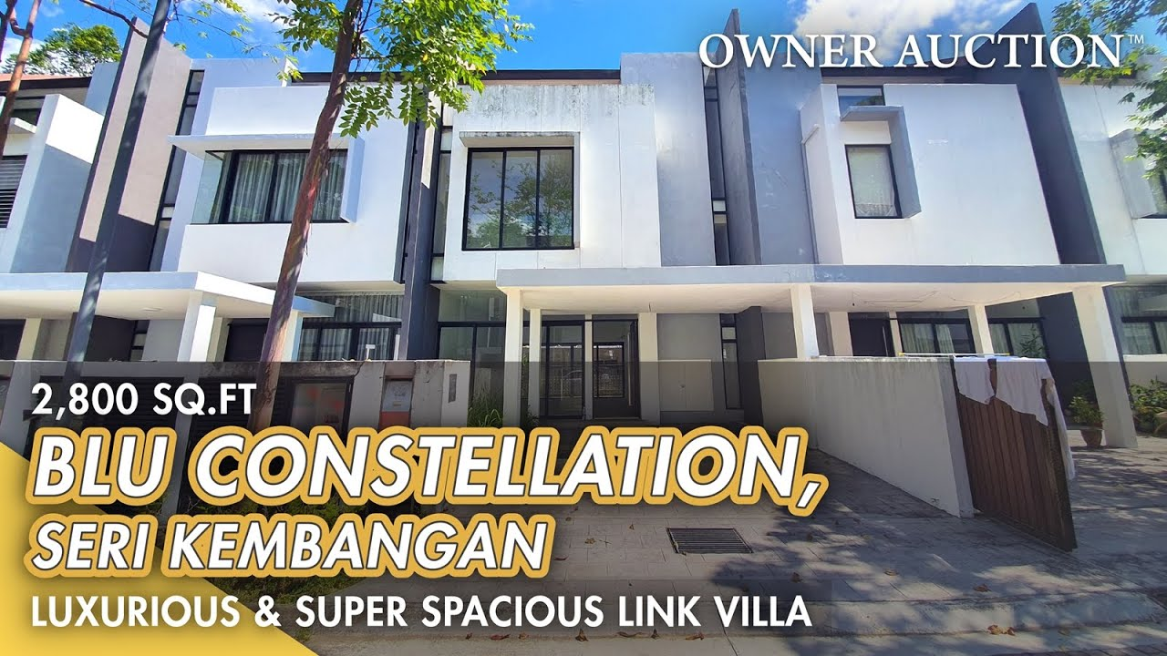 [Owner Auction™] Blu Constellation-Luxurious & Spacious Link Villa for Auction Exclusively by Owner