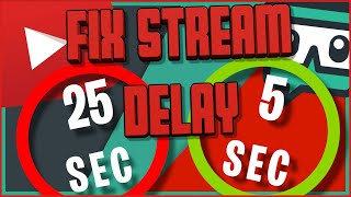 *FIXED* HOW TO FIX STREAM DELAY ON YOUTUBE AND STREAMLABS OBS -  ULTRA LOW LATENCY