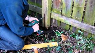 Repair broken timber fence posts quick and easy post buddy