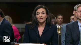 Facebook COO Sheryl Sandberg's opening statement before Congress