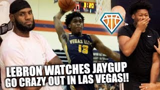 LEBRON WATCHES JOSH CHRISTOPHER SHUT DOWN VEGAS!! | 5-STAR Guard Puts EXCLAMATION POINT ON SUMMER