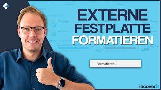 Externe Festplatte formatieren (Mac & Windows)