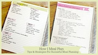 How To Meal Plan | Strategies And Tips