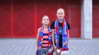 Hymna FC Viktoria Plzeň - dětské DUO. Viktoria Plzeň/Česko (Pilsen/Czechia).