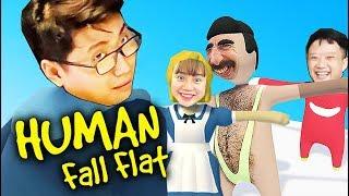LIVE STREAM GAME KHUYẾT TẬT CÙNG TEAM ĐỤT - HUMAN FALL FLAT VS LINH, VŨ, ĐẠT, HUNTER !!!
