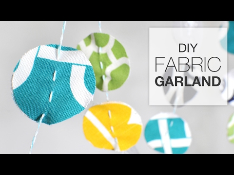 Easy DIY Fabric Garland