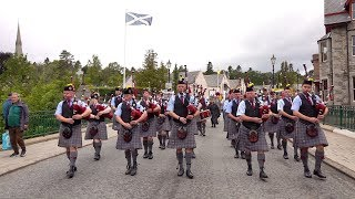 """""""Scotland the Brave"""" by the Isle of Cumbrae Pipe Band as they march out of Braemar, Scotland"""