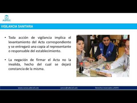 Curso Norma Sanitaria para Restaurantes y Servicios afines de ASFEC - Clase demostrativa