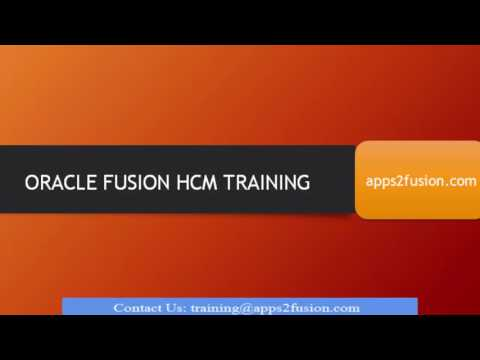 Oracle Fusion HCM Cloud Training Course - YouTube