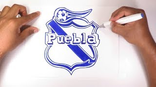 Dibuja El Escudo Oficial Del Club Puebla FC De México