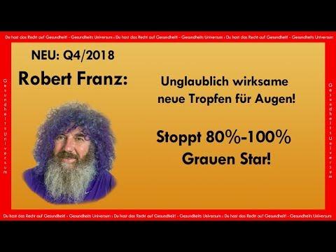 Unglaublich! Robert Franz bringt neue Tropfen für Augen   Stoppt 80% von Grauen Star!