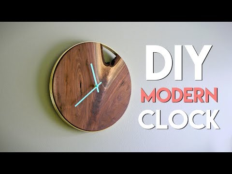 DIY Modern Live Edge Wall Clock // How To - Woodworking