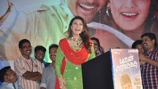 Hansika,Satish and Deva at Maan Karate Movie Audio Launch