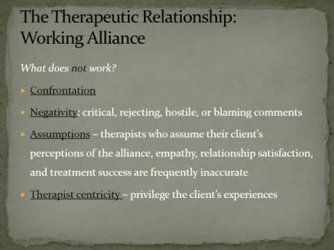 Video Therapeutic Alliance : Counselor Characteristics