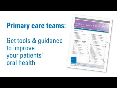 Oral Health: Integration into Primary Care, Implementation Guide