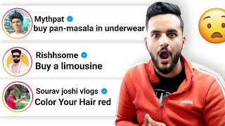 Letting YOUTUBER'S decide a DARE for me !! *Coloring my HAIR RED*