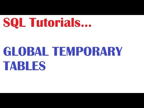 SQL Tutorial for beginners : What is Global temporary Tables in Oracle