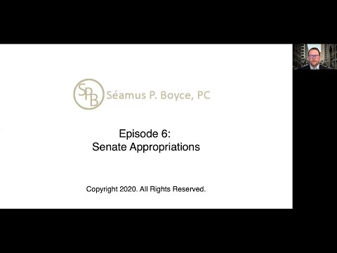 Episode 6 – Senate Appropriations Committee