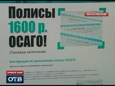 Дёшево и очень сердито: в Екатеринбурге появились «левые» полисы ОСАГО