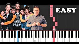 Why Don't We ft Macklemore - I Don't Belong In This Club (EASY Piano Tutorial)