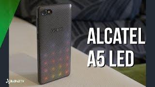 Alcatel A5 LED, carcasa trasera con luces de colores