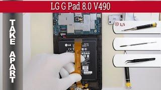 How to disassemble LG G Pad 8.0 V490 Take apart Tutorial
