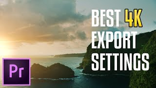 HOW TO EXPORT 4K VIDEO For YouTube