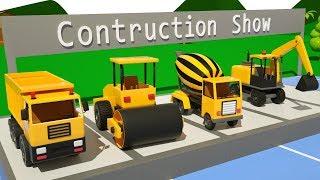 Trucks for Kids Construction Show - #excavator, Dump Truck, Mixer Truck in Surprise Eggs