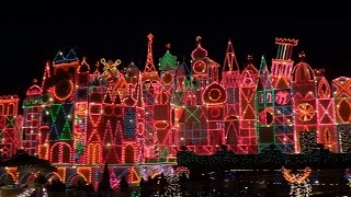 It's a Small World Holiday full ride 2015 at Disneyland