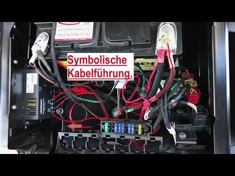 VW T6 Zweitbatterie eingebaut | mit Ladebooster und 80Ah AGM Batterie