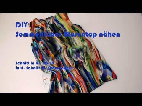 DIY sommerliche Bluse / Top nähen - Kostenloses Schnittmuster