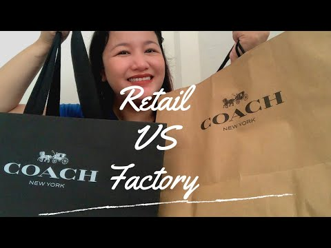 Difference between Coach Retail and Coach Factory Outlet | Coach Retail versus Coach Factory Outlet