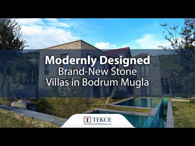 Luxury Stone Villas in Bodrum Gumusluk Close to Beach