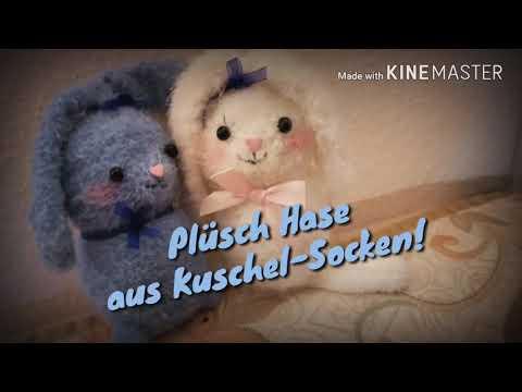 Plüsch Hase aus Kuschel Socken selber machen 🐰🐇