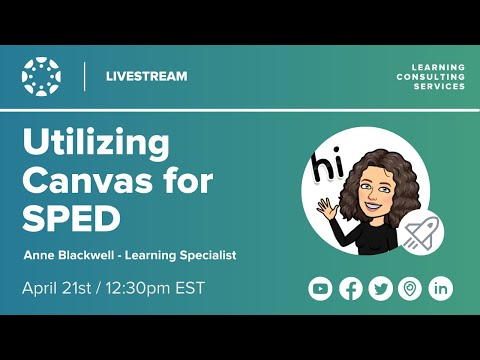 Utilizing Canvas for Special Education - YouTube