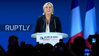 LIVE: French 2017 presidential elections - Le Pen