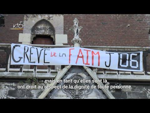 Grève de la faim pour les migrants à Calais