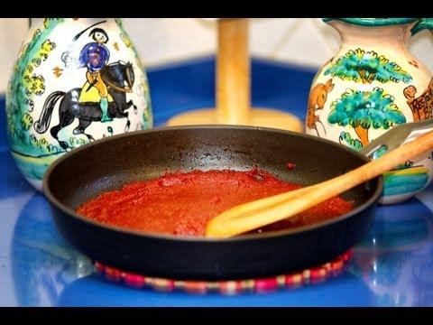 Como Hacer el Tomate Concentrado o Pasta de Tomate, Receta