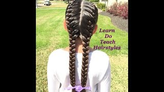 2 French Braids From Start To Finish
