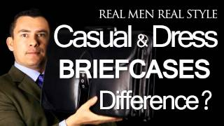 Mens Leather Briefcases - Difference Between Casual & Dress Business Briefcase - Leather Bag Advice