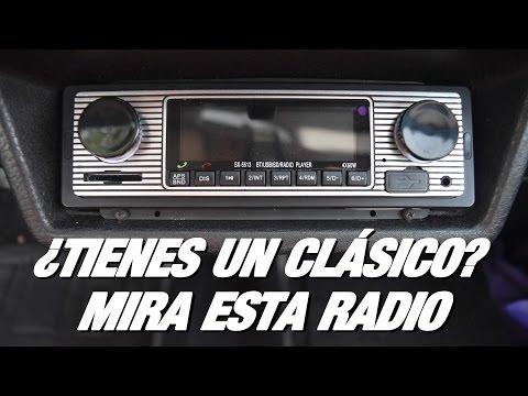Radio para coche clásico barata 🚗 Radio retro con bluetooth de 1 DIN por 20 euros - RPMlog #11