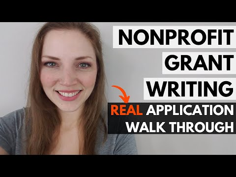 Grant Writing for Nonprofits: REAL Application Walk-Through (Dreyfus Foundation)