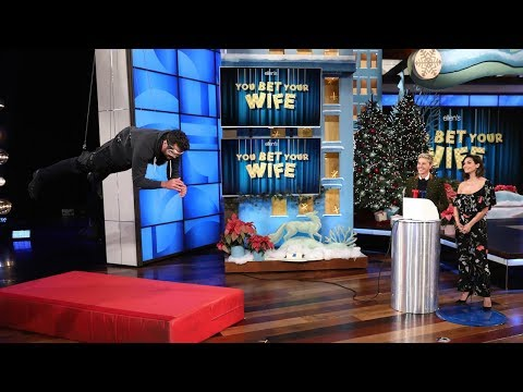 First Celebrity Edition of Ellen's Game 'You Bet Your Wife'!