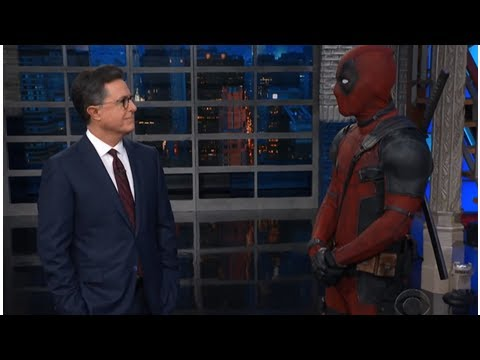Deadpool crashes Stephen Colbert's 'Late Show' monologue - National