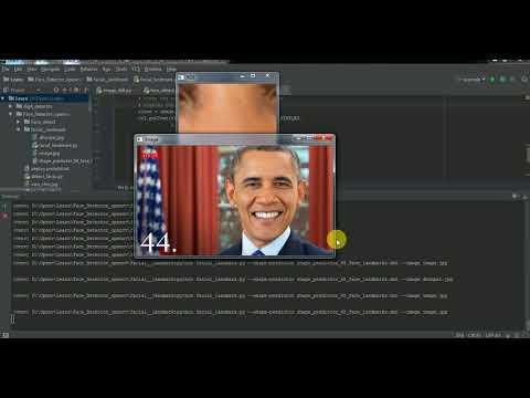 facial landmark detection(eyes nose etc) using opencv dlib