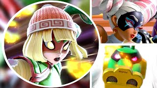 Min Min All Victory Poses, Final Smash, Kirby Hat, & Funny Animations in Super Smash Bros Ultimate