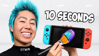 Customizing Nintendo Switch In 10 Hours, 1 Hour, 10 Minutes, 1 Minute & 10 Seconds!